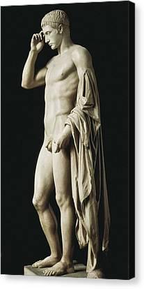 Statue Of Marcellus Statue De Canvas Print by Everett