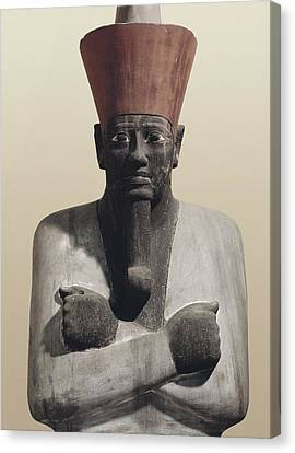 Statue Of Mentuhotep II. 2040 Bc Canvas Print by Everett