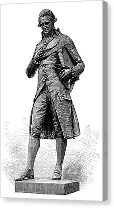 Statue Of Nicolas De Condorcet Canvas Print by Science Photo Library