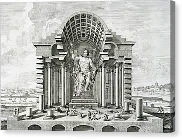 Statue Of Olympian Zeus Canvas Print