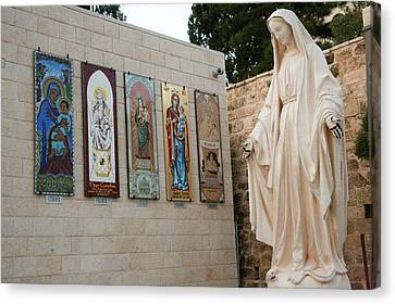 Statue Of The Virgin Mary, Mother Canvas Print