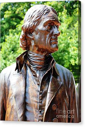 Statue Of Thomas Jefferson Canvas Print by Judy Palkimas