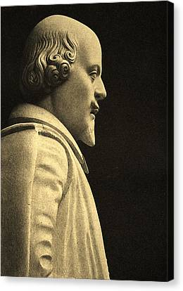 Statue Of William Shakespeare Canvas Print by English School