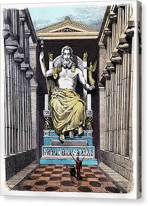 Statue Of Zeus At Olympia Canvas Print by Cci Archives