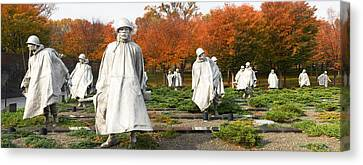 Korean War Memorial Canvas Print - Statues Of Army Soldiers In A Park by Panoramic Images