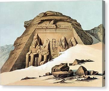 Statues Of Rameses Canvas Print by Karl Richard Lepsius