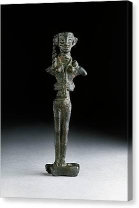 Statuette Of Astarte Canvas Print by Ashmolean Museum/oxford University Images