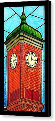 Staunton Virginia Clock Tower Canvas Print by Jim Harris