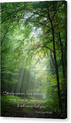 Stay Close To Nature Canvas Print by Bill Wakeley