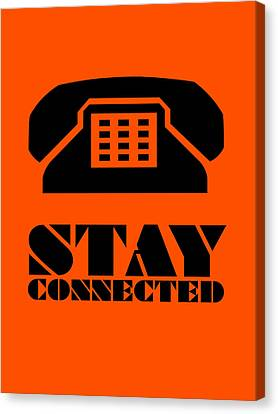Stay Connected 3 Canvas Print by Naxart Studio