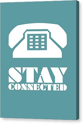 Stay Connected 4 Canvas Print by Naxart Studio
