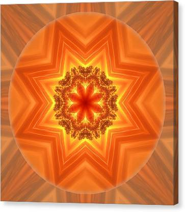 Stay Connected Mandala Canvas Print