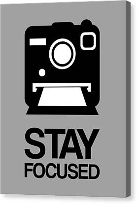 Camera Canvas Print - Stay Focused Polaroid Camera Poster 1 by Naxart Studio