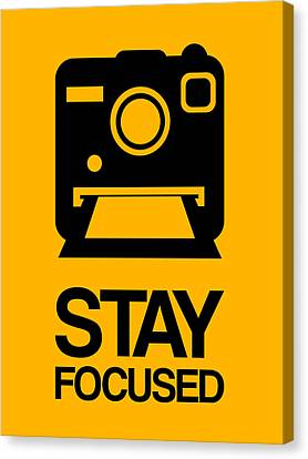Camera Canvas Print - Stay Focused Polaroid Camera Poster 2 by Naxart Studio