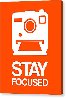Stay Focused Polaroid Camera Poster 3 Canvas Print by Naxart Studio
