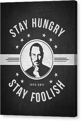Stay Hungry Stay Foolish - Dark Canvas Print by Aged Pixel