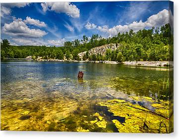 Stay Off Ice - Klondike Spring Canvas Print by Bill Tiepelman