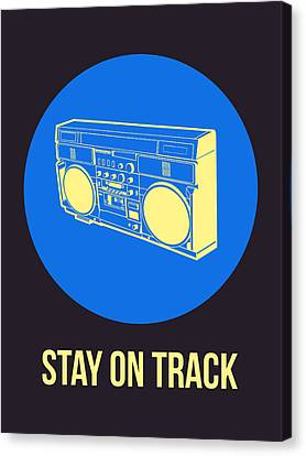 Stay On Track Boombox 2 Canvas Print by Naxart Studio