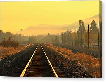 Canvas Print featuring the photograph Stay On Track by Lynn Hopwood