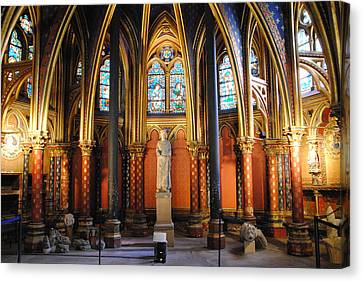 Ste.-chapelle Lower Chapel Canvas Print by Jacqueline M Lewis
