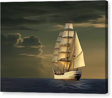 Steadfast Voyage Canvas Print by James Charles
