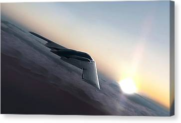 Stealth Sunset Canvas Print
