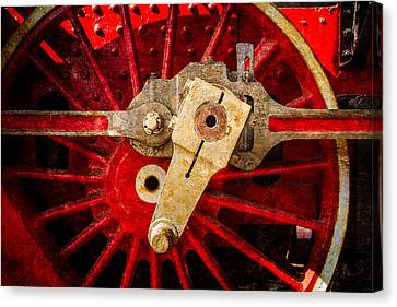 Steam And Iron - Driving Wheel Canvas Print by Alexander Senin