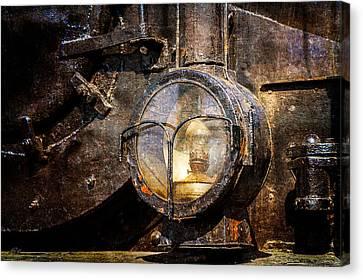 Steam And Iron - Headlight Canvas Print