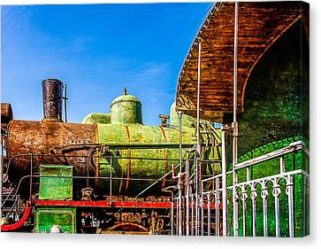 Steam And Iron - Last Station Canvas Print by Alexander Senin
