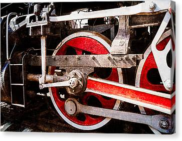 Steam And Iron - Power Drive Canvas Print by Alexander Senin