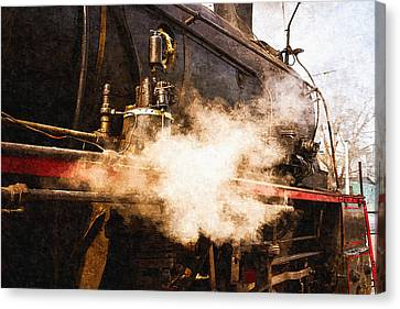Steam And Iron - Ready For Departure Canvas Print by Alexander Senin