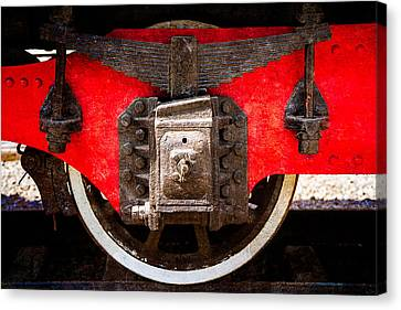 Steamer Truck Canvas Print - Steam And Iron - Trailing Truck by Alexander Senin
