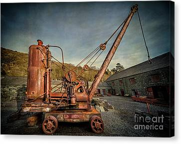 Steam Crane Canvas Print by Adrian Evans
