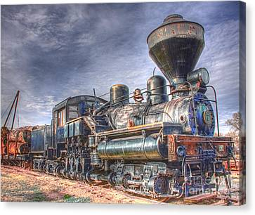 Fort Missoula Canvas Print - Steam Engine 7 by Katie LaSalle-Lowery