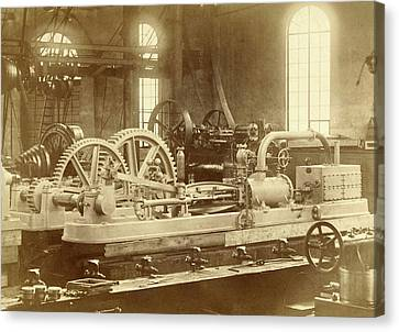 Steam Engine, Built By The Royal Factory Of Steam And Other Canvas Print