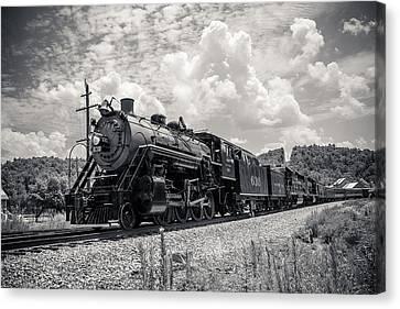 Steam Engine Canvas Print by Darrin Doss