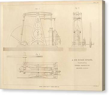Steam Engine Design Canvas Print by King's College London
