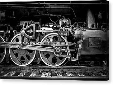 Steam Engine Canvas Print by Jeff Burton