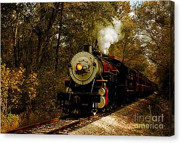 Steam Engine No. 300 Canvas Print by Robert Frederick