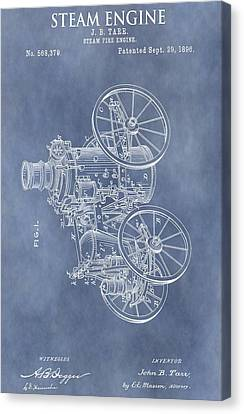Steam Engine Patent Canvas Print