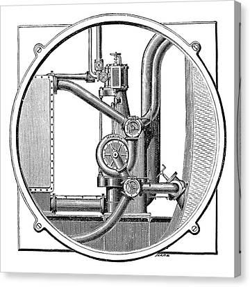 Steam Engine Pump Canvas Print
