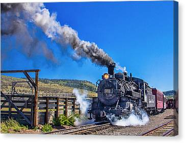 Steam Engine Relic Canvas Print by Steven Bateson