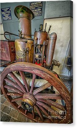 Boiler Canvas Print - Steam Fire Engine by Adrian Evans