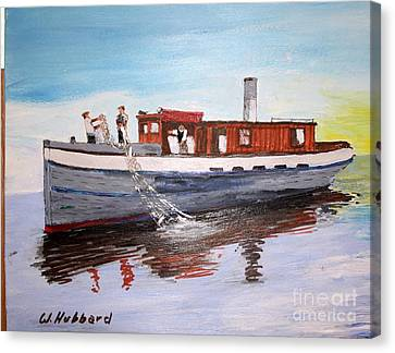Steam Fishing Tug John Smith Canvas Print by Bill Hubbard