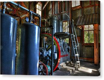 Steam Generator At Koreshan Canvas Print by Timothy Lowry