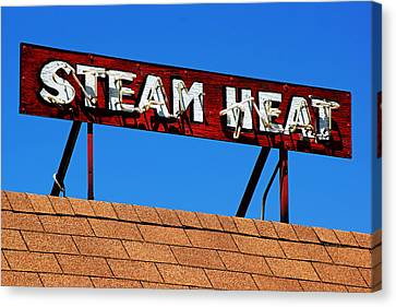 Canvas Print featuring the photograph Steam Heat by Daniel Woodrum