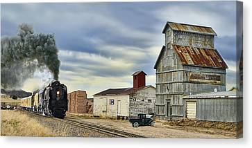 Steam In Castle Rock Canvas Print