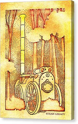 Steam Legacy Gold Canvas Print by Patricia Howitt