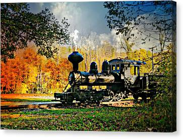 Steam Loco Circa 1909 Canvas Print by Diana Angstadt