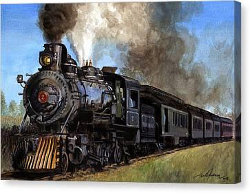 Dale Jackson Canvas Print - Steam Locomotive by Dale Jackson